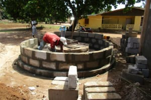 The Water Project: Victory Evangelical Church -  Walling The Well