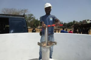 The Water Project: Petifu Junction Community -  Pump Installation