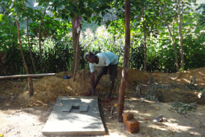 The Water Project: Murumba Community, Muyokani Spring -  Sanitation Platform For Latrine