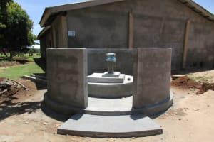 The Water Project: Victory Evangelical Church -  Finished Well Pad
