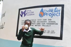 The Water Project: Muthei Secondary School -  Finished Tank
