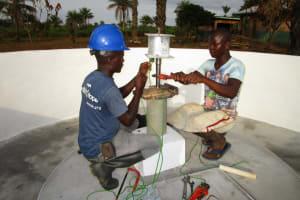 The Water Project: DEC Primary School -  Pump Installation