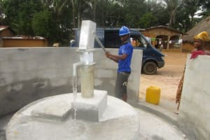 The Water Project: Ponka Village -  Water Flowing