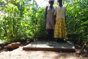 The Water Project: Murumba Community, Muyokani Spring -  Sanitation Platform