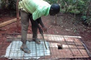 The Water Project: Visiru Community, Kitinga Spring -  Sanitation Platform Construction