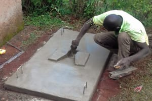 The Water Project: Visiru Community, Kitinga Spring -  Sanitation Platform