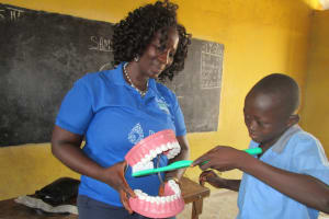 The Water Project: Word of Life Bilingual School -  Brushing Teeth