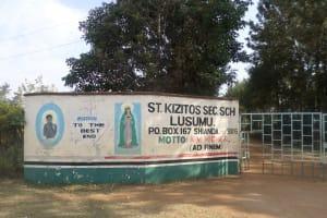 The Water Project: St. Kizito Lusumu Secondary School -  School Gate