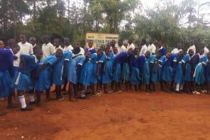 The Water Project: Mwiyenga Primary School -  Posing At School Gate