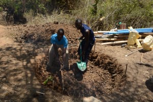 The Water Project: Waita Community A -  Well Construction