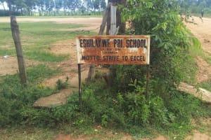 The Water Project: Eshilakwe Primary School -  School Sign