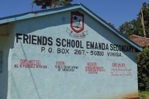 The Water Project: Friends Emanda Secondary School -  School Name