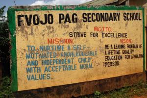 The Water Project: Evojo Secondary School -  School Sign