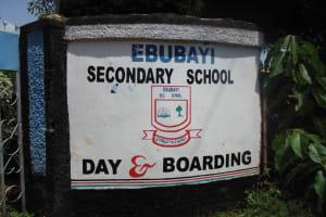 The Water Project: Ebubayi Secondary School -  School Entrance