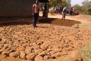 The Water Project: Eshisuru Primary School -  Tank Foundation