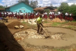 The Water Project: Bishop Sulumeti Girls Secondary School -  Tank Construction