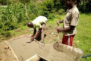 The Water Project: Shikoti Community -  Sanitation Platform Construction