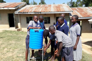The Water Project: Chief Mutsembe Primary School -  Hand Washing Stations