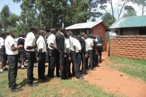 The Water Project: Evojo Secondary School -  Latrine Lines
