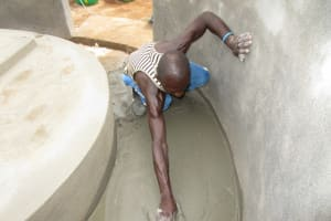 The Water Project: Kitonki Community, War Wounded Camp -  Building The Well Pad