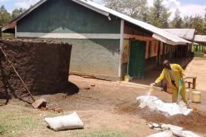 The Water Project: Eshisuru Primary School -  Concrete Work