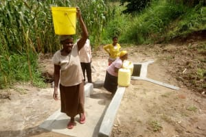 The Water Project: Handidi Community, Malezi Spring -  Clean Water