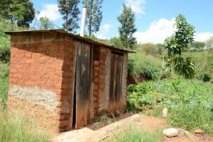 The Water Project: Kaani Community E -  Mulatya Latrines