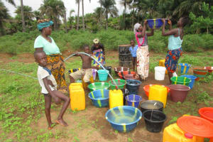 The Water Project: Kitonki Community, War Wounded Camp -  Yield Test
