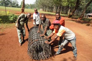 The Water Project: Ebukanga Primary School -  Mesh To Fortify Tank Walls