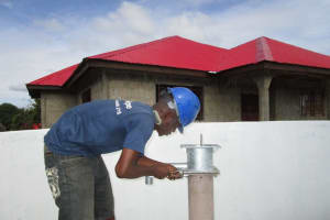 The Water Project: Royema, New Kambees -  Pump Installation