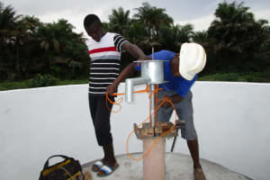 The Water Project: Kitonki Community, War Wounded Camp -  Pump Installation
