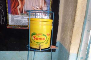 The Water Project: Shiyunzu Primary School -  Teacher Hand Washing Station