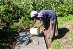 The Water Project: Shikoti Community -  Finished Sanitation Platform