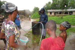 The Water Project: Benke Community, Brima Lane -  Yield Test
