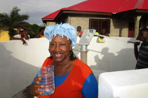 The Water Project: Royema, New Kambees -  Clean Water Flowing