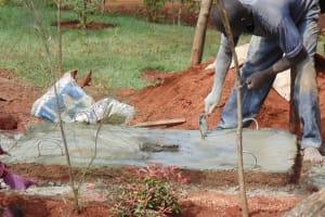 The Water Project:  Sanitation Platform Construction