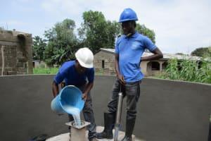 The Water Project: Benke Community, Brima Lane -  Pump Installation