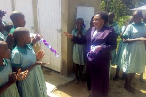 The Water Project: Eshisuru Primary School -  Finished Latrines