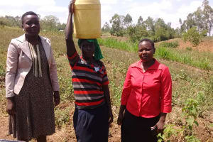 The Water Project: Shitoto Community, Abraham Spring -  Local Woman With Her Trainers