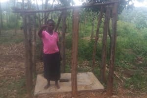 The Water Project: Shitoto Community, Abraham Spring -  A Sanitation Platform And The Walls Beginning To Go Up