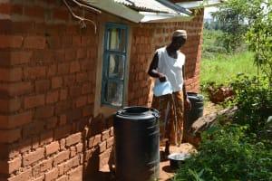 The Water Project: Kaani Community E -  Rose Nduku Water Storage