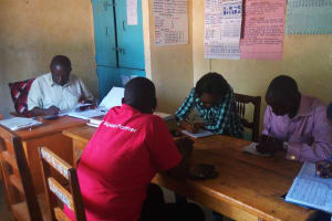 The Water Project: Namalenge Primary School -  Meeting With Administration