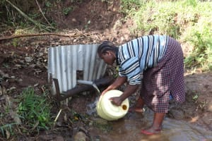 The Water Project: Shitungu Community, Makale Spring -  Washing Container