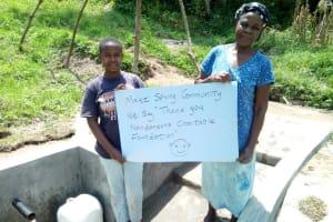 The Water Project: Handidi Community, Malezi Spring -  Thank You Nandansons