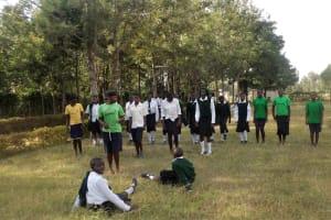 The Water Project: St. Kizito Lusumu Secondary School -  Lusumu Ball Team Warming Up