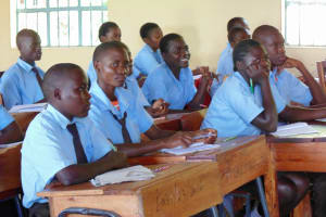 The Water Project: Friends Emanda Secondary School -  Students In Class