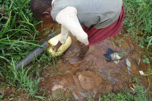 The Water Project: Ebuhando Community, Christopher Omasaba Spring -  Fetching Water