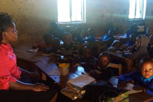 The Water Project: Eregi Mixed Primary School -  Nursery Students In Class