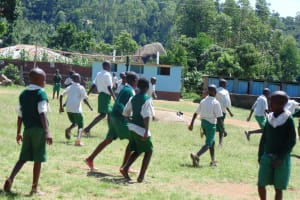 The Water Project: Friends Emanda Secondary School -  Students Playing