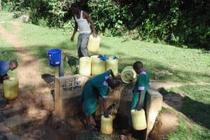 The Water Project: Chandolo Primary School -  Fetching Water